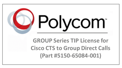 GROUP Series TIP License for Cisco CTS to GROUP Direct Calls (Part #5150-65084-001)