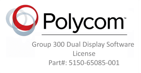 Group 300 Dual Display Software License. (Part #5150-65085-001)