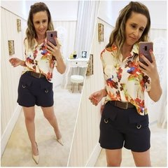 Camisa Cropped Flowers