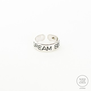 Anillo Dream Big (Plata 925)