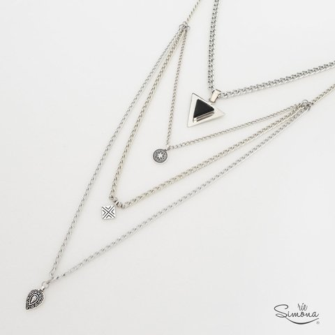 Collar Casia 2 en 1 - Obsidiana