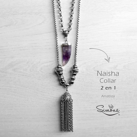Collar Naisha (2 en 1) - Amatista