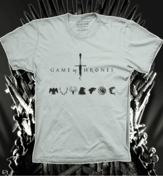 Camiseta Casas de Game of Thrones - M