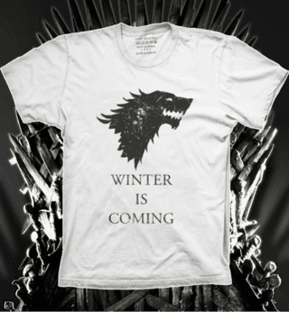 Camiseta Medalhão da Casa Stark - Game of Thrones - G