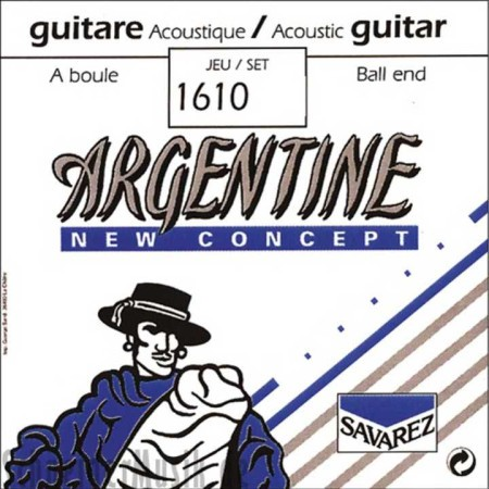 Encordado guitarra acústica SAVAREZ 1610 TENSION XL 010-045 ARGENTINE