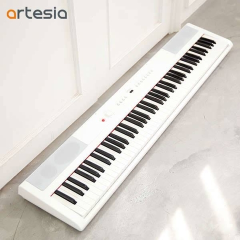 PIANO ELECTRICO ARTESIA COLOR BLANCO-TECLAS PESADAS