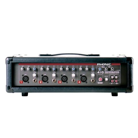 Cons  Poten, 100w/4, 4XLR/linea +RCA, Eq 2 bd, Delay variable - PHONIC mod POWER410