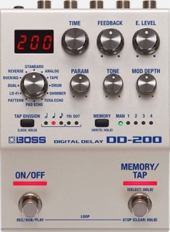 Pedal Boss Dd200 Digital Delay 32 Bits Para Guitarra