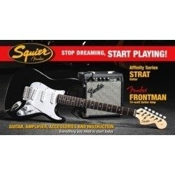 Pack Start Playing, Affinity Stratocaster + Amp. Front.10g,