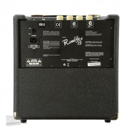 Amp. p/Bajo Rumble FENDER 15 (V3) 15W, CD