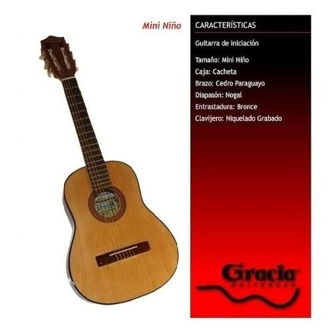 Guitarra Criolla Gracia Mini Niño