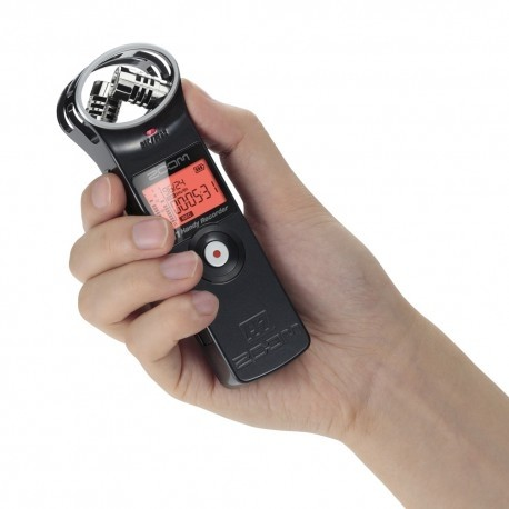 Handy Recorder ZOOM H1/W, Mini Grab Digital, Stereo Microf: X/Y, Form:Wav/MP3, Parlante, exp x mSD, USB, c:Whi