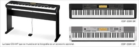 Piano Digital Casio Cdp230rbk/sr