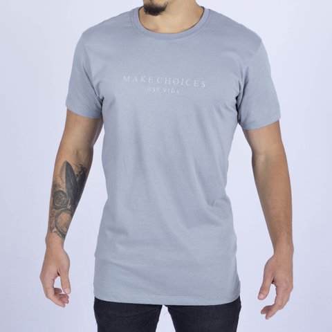 T-SHIRT MAKE CHOICES GREY