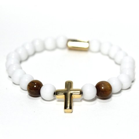 Pulseira Golden White