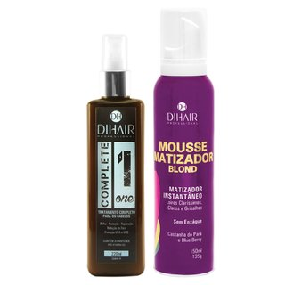 Complete One 220ml + Mousse Matizador Blond 150ml - Dihair Professional