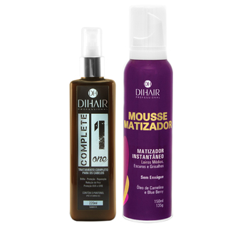 Complete One 220ml + Mousse Matizador Concentrado 150ml - Dihair Professional
