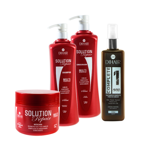kit Solution Repair Multi Reconstrutor 1 Litro + Complete One 220ml - DiHair Professional