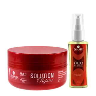 Máscara Solution Repair Multi Reconstrutor 250gr + Óleo de Argan 30ml - DiHair Professional - comprar online