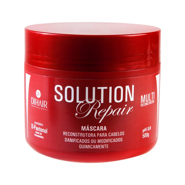Máscara Solution Repair Multi Reconstrutor 500gr + Mousse Matizador Concentrado 150ml + Complete One 220ml + Óleo de Argan 30ml  - Dihair Professional - comprar online