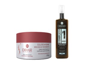 Máscara Solution Repair Multi Reconstrutor 250gr + Leave-In Complete One 220ml - Dihair Professional