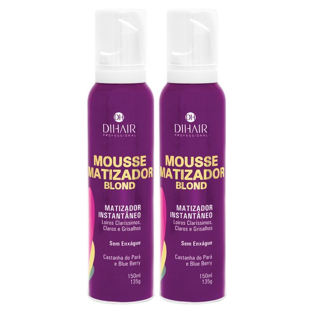2 Mousse Matizador Blond 150ml - Dihair Professional