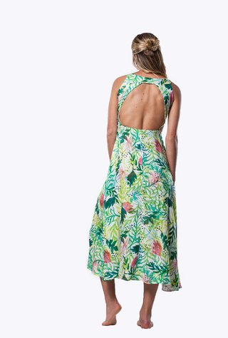 VEGAN DOUBLE BACK DRESS - comprar online