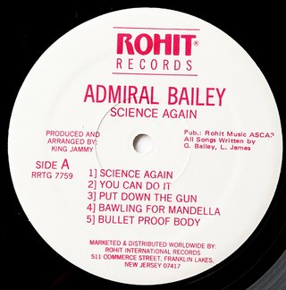 LP Admiral Bailey - Science Again (Original Press) [VG+] na internet
