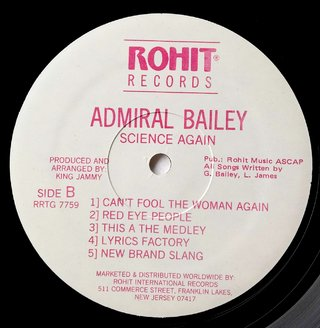 LP Admiral Bailey - Science Again (Original Press) [VG+] - Subcultura