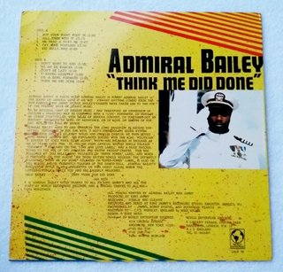 LP Admiral Bailey - Think Me Did Done (Original UK Press) [VG+] - comprar online