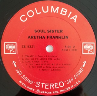 LP Aretha Franklin - Soul Sister [VG+] - Subcultura