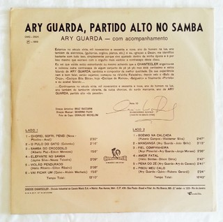 LP Ary Guarda - Partido Alto no Samba (Original Press) [VG+] - comprar online