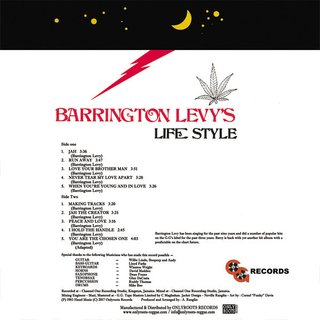 LP Barrington Levy - Barrington Levys Life Style [M] - comprar online