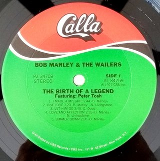 LP Bob Marley & the Wailers - The Birth Of a Legend (Original US Press) [VG+]