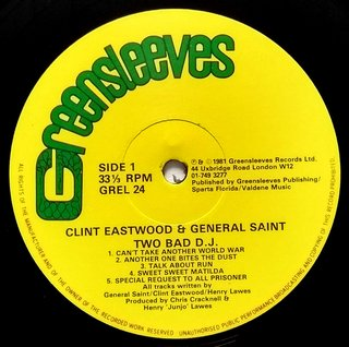 LP Clint Eastwood & General Saint - Two Bad DJ (Original Press) [VG+] - comprar online