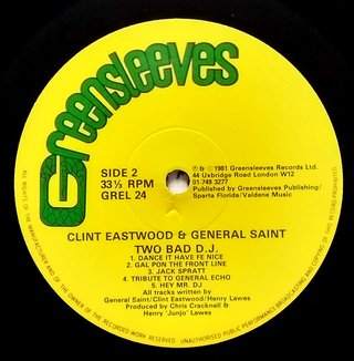 LP Clint Eastwood & General Saint - Two Bad DJ (Original Press) [VG+] na internet