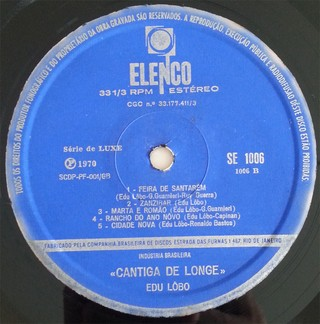 LP Edu Lôbo - Cantiga de Longe (Original Press) [VG+] - Subcultura