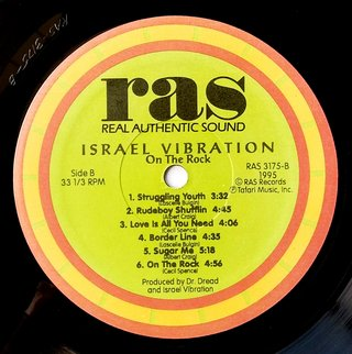 LP Israel Vibration - On The Rock (Original US Press) [VG+] - Subcultura