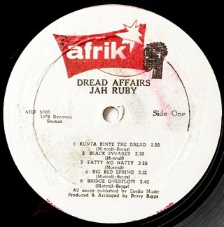 LP Jah Ruby - Dread Affairs [VG+] na internet