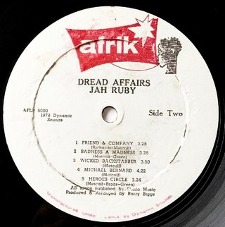 LP Jah Ruby - Dread Affairs [VG+] - Subcultura