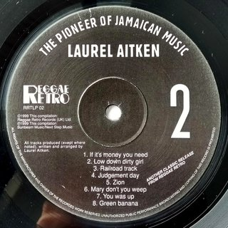 LP Laurel Aitken - The Pioneer of Jamaican Music [VG+] - Subcultura