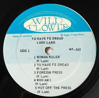 LP Lord Laro - Yu Have Fe Dread (Original Press) [VG+] na internet