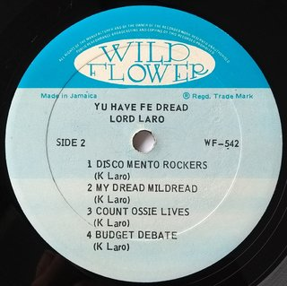 LP Lord Laro - Yu Have Fe Dread (Original Press) [VG+] - Subcultura
