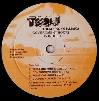 LP Lovindeer - Government Boops (Original JA Press) [VG] na internet