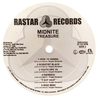 LP Midnite - Treasure [VG] - Subcultura