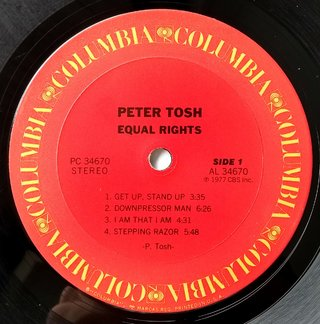 LP Peter Tosh - Equal Rights (Original US Press) [VG+] na internet