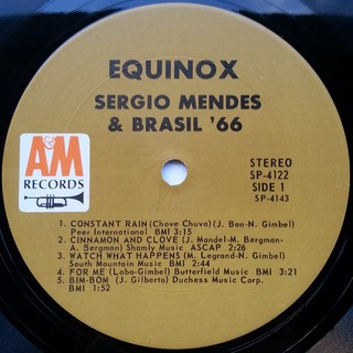 LP Sergio Mendes & Brasil '66 - Equinox (Original Press) [VG+] na internet