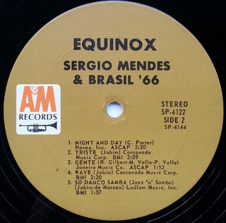 LP Sergio Mendes & Brasil '66 - Equinox (Original Press) [VG+] - Subcultura