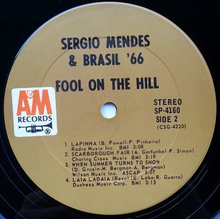 LP Sergio Mendes & Brasil '66 - Fool On The Hill (Original Press) [VG+]
