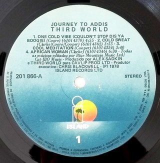 LP Third World - Journey to Addis (Original BR Press) [VG+] na internet